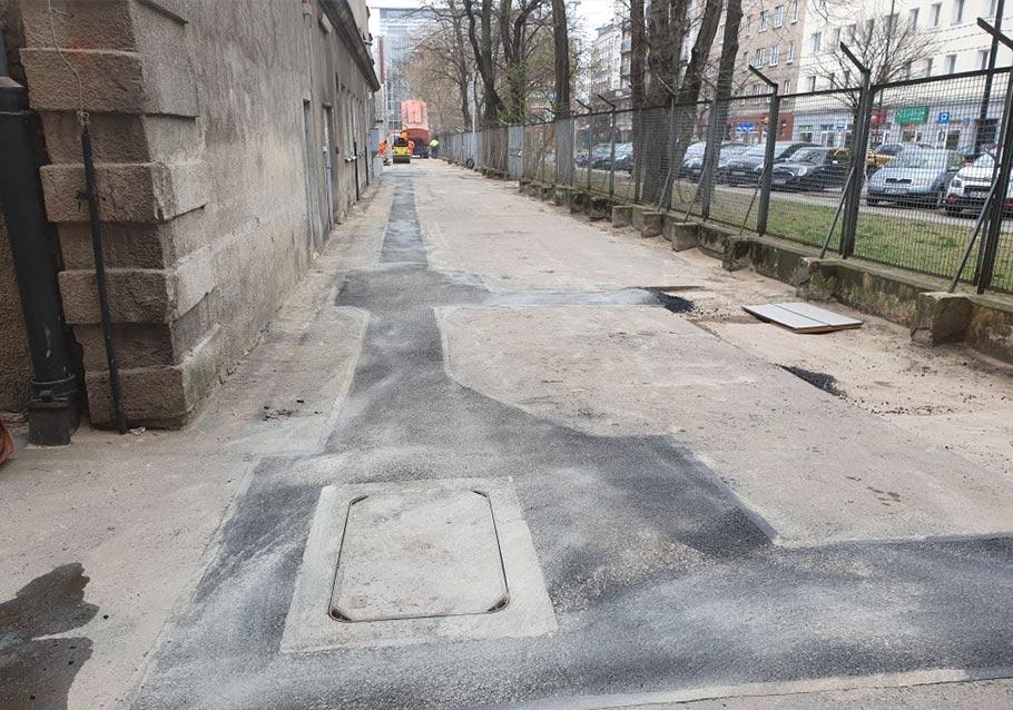 Plomba asfaltowa po pracach ziemnych